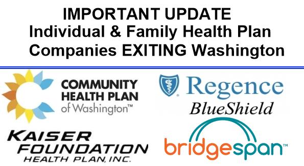 Individual And Family Health Plan Companies Exiting Washington